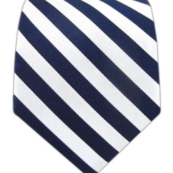 Twill White Stripe - Navy   Ties, Bow Ties, and Pocket Squares   The Tie Bar