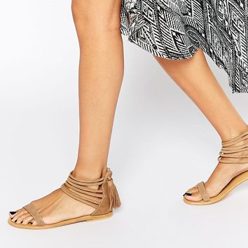 ASOS FAMILY TREE Suede Flat Sandals