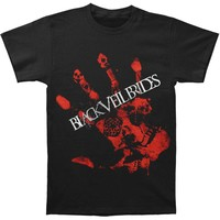 Black Veil Brides Men's  Red Handed Slim Fit T-shirt Black