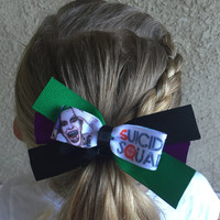 Suicide Squad Joker inspired Hair Bow