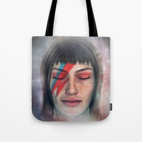omaggio a Bowie Tote Bag by blindblues50