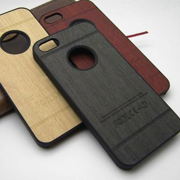 for iphone 4 case wood skin with hard PC cover case for iphone 4s classical Vintage Retro Style , 1pc free shipping