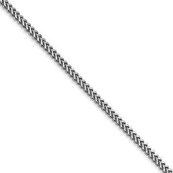 1.5mm, 14k White Gold, Solid Franco Chain Necklace