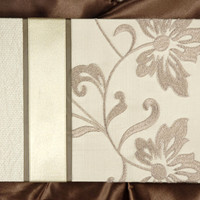 Molly West Lustrous Pearl  Embroidered Silk  Guest Book