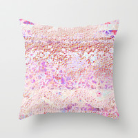 broken pattern Throw Pillow by Marianna Tankelevich