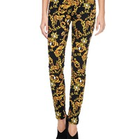 Pitch Black Combo Super Soft Skinny Baroque Cheetah by Juicy Couture,