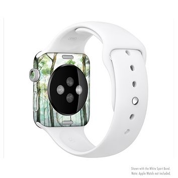 The Watercolor Glowing Sky Forrest Full-Body Skin Kit for the Apple Watch