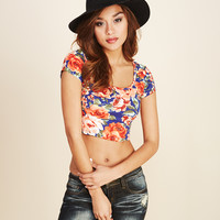 Rose Garden Print Crop Top | Wet Seal
