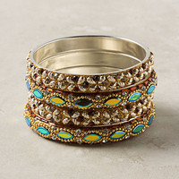Drifting Shimmer Bangle Set