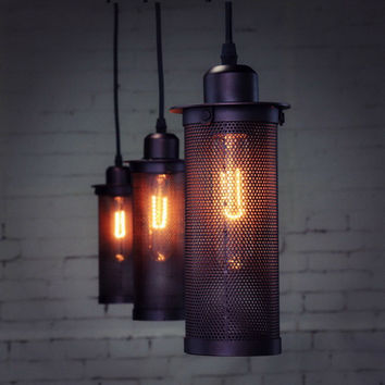 Arrive Lamp Vintage Industrial Loft Retro Style Metal Cage Wire Frame Pendant Light Lamp Shades Light