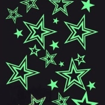 Halloween Glow in the Dark Stars Temporary Tattoos