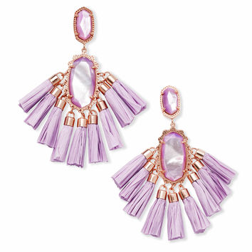 Kristen Rose Gold Statement Earrings In Lilac Pearl | Kendra Scott