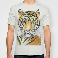 Tiger Watercolor Painting T-shirt by Susan Windsor