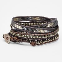 Women's Chan Luu Beaded Leather Wrap Bracelet