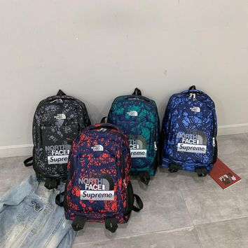 Classical Basic north face and supreme Travel Backpack For School Men Women Bookbags