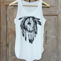 Boho Dream Catcher Tank Top Hipster tank top Tank top women Fitness top Summer Gift Summer fashion Vintage Jack Daniels Wifey Bride kale