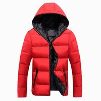 Trendy 2018 New Jackets Men Autumn Winter Hot Sale Casual Outwear Thick Windbreaker Jaqueta Masculino Solid Hooded Fashion Coats Homme AT_94_13