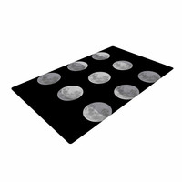 "Jackie Rose ""Lunar OCD"" Black Gray Woven Area Rug"