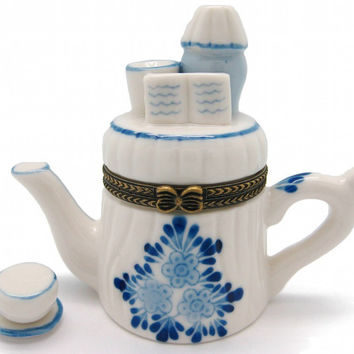 Jewelry Boxes Delft Tea Pot and Cup