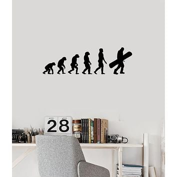 Vinyl Wall Decal Snowboarder Evolution Extreme Sports Snowboarding Stickers Mural (ig6048)