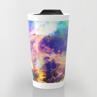 Rainbow Galaxy Travel Mug by Haroulita | Society6