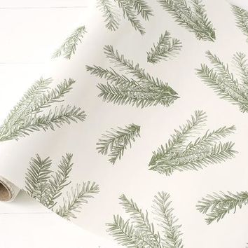 Evergreen Sprigs Table Runner