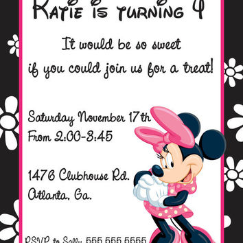 Shop Minnie Mouse Invitations On Wanelo - Minnie mouse birthday invitations blank