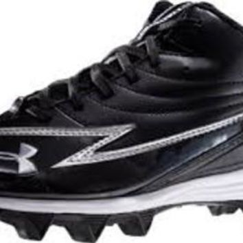 Under Armour ~ UA Hammer III Youth Football Cleat ~ Black / White