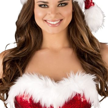 Roma RM-C156 Fur Trimmed Sequin Christmas Hat