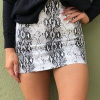 After Dark Skirt- Black and White