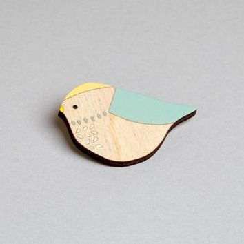 Bluetit Bird Brooch