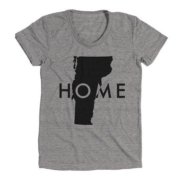 Vermont Womens Athletic Grey T Shirt - Graphic Tee - Clothing - Gift