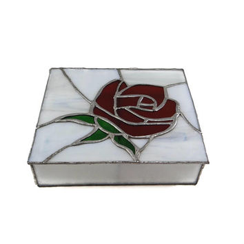 Vintage Stained Glass Box