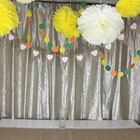 """Fonder Mols 6pcs Mixed 3 Sizes 8"""" 10'' 14"""" Yellow Ivory Craft Tissue Paper Pom Poms Flowers Party Ball Wedding Bridal Shower Party Decoration"""