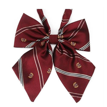 Cute Crown Collar Flower Adjustable Bow Tie Students Plaid Japanese Uniform Bow Tie Women's Butterflies Neck Tie Cravat SM6