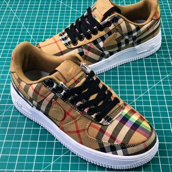 Burberry X Nike Air Force 1 Low Af1 Camo Sport Shoes Sale