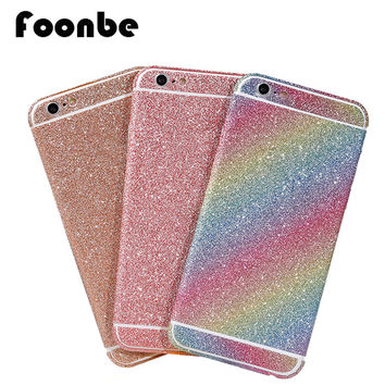 FOONBE Luxury Phone Case Stickers For iPhone 6 6S Glitter Bling Diamond Phone Stickers for Iphone 5s 6 6s plus Back Cover