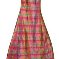 Isaac Mizrahi For Target Womens Madras Print Silk Summer Party Size 2 Dress