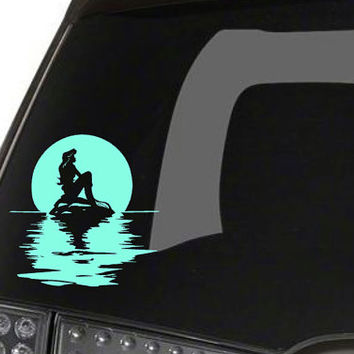 Ariel on the water car decal updated design little mermaid ins