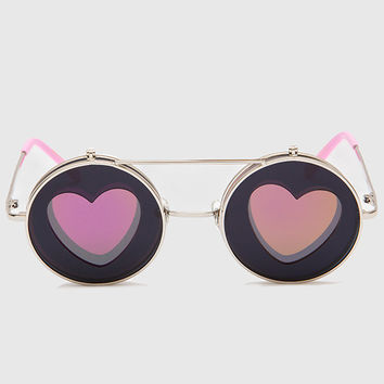 Ginny Love Round Sunglasses - Pink