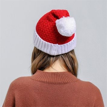 Men Women Baggy Warm Crochet Winter Wool Knit Ski Christmas Caps Hat