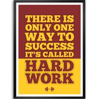 """Lab No. 4 Success Called Hard Work Fitness Gym Quotes Framed Poster Size A3 (16.5"""" x 11.7"""")"""