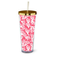 Straw Tumbler-Preppy In Paradise