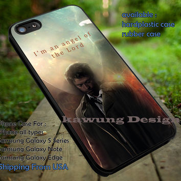 Tv Series Supernatural The Angel Quote iPhone 6s 6 6s+ 5c 5s Cases Samsung Galaxy s5 s6 Edge+ NOTE 5 4 3 #quote dt