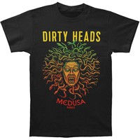Dirty Heads Men's  Roman Medusa Slim Fit T-shirt Black