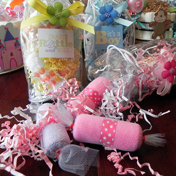 Washcloth Candy Bag  Unique Baby Shower Gifts by BabyBinkz on Etsy