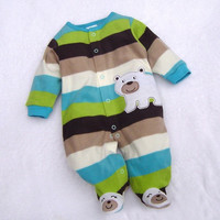 HOT Baby Toddler Romper Warm Hoodie Soft Warm Romper Outfit For Baby Bear Stripe D_L = 1712391556