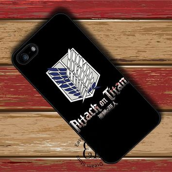 Cool Attack on Titan anime logo  case for HTC M7 M8 M9 M10 Sony Z3 Z4 Z5 mini LG G4 G5 G6 Xiaomi Mi3 Mi4 Mi5 Redmi note 2 3 4 4X AT_90_11