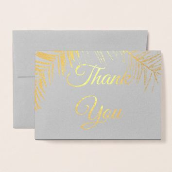 Thank You personalized foil card
