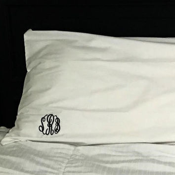 Monogrammed Pillow Case- Great Gifts